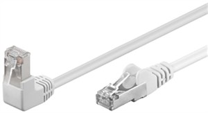 CAT 5e patchcable 1x 90°angled, F/UTP, white