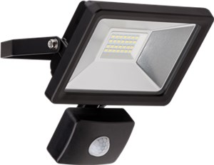 LED outdoor floodlight with a motion sensor, 20 W