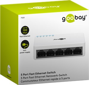 5 Port Fast Ethernet Netzwerk-Switch