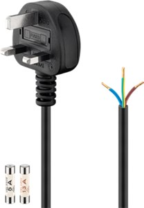UK - cold-device cord, 1.5 m, black
