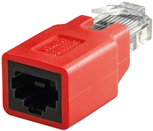 RJ45 crossover Modular-Adapter, CAT 5e