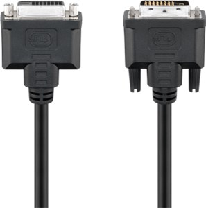 DVI-D Full HD extension cable Dual Link, nickel plated