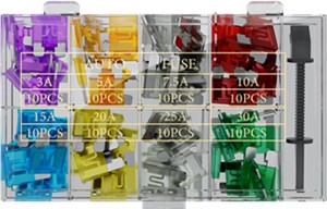 Car blade fuse assortment; 81 pcs.