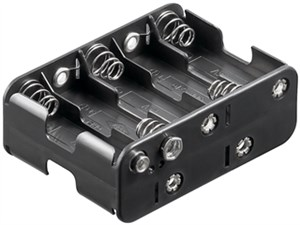10x AA (Mignon) battery holder