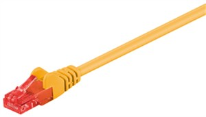 CAT 6 patch cable, U/UTP, yellow