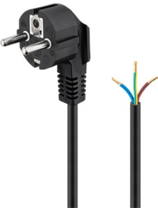 Angle Power cable for confectionery 2 m, black